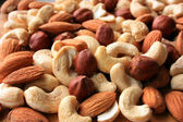 A mixture of nuts for a healthy diet — Stock Photo