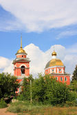 Orthodox church against the blue sky — Stok fotoğraf