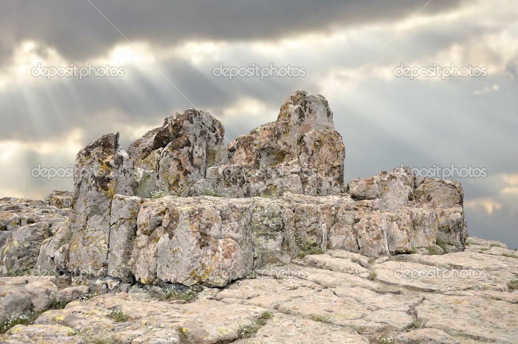 arquitectura megal�tica - Observatorio kokino � Foto stock ...