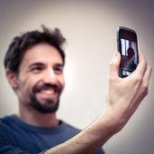 Young man take a Selfie — Stock Photo