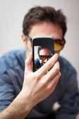 Frontal view of selfie — Stock Photo
