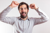 Young man expressing happynes and joy — Stock Photo