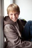 Portrait of happy teenager outdoor — Stock Photo