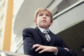 Business teenager looks forward — Stock Photo