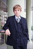 Business teenager looks forward — Stock Photo