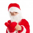 Small boy dressed as Santa Claus, isolation — Stock Photo #14593873