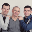 Portrait of father and two sons — Stock Photo