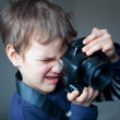 Royalty-Free Stock Photo: Portrait of young photographer