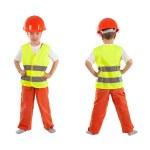 Portrait of boy in orange helmet, isolation — Stock Photo #26173147