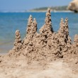Stock Photo: Sand castle on beach, Mediterranean, Spain