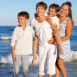 Children are standing on beach — Stock Photo