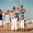 Portrait of happy family near yacht — Stock Photo #32110847