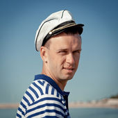 Portrait of Middle-aged sailor — Stock Photo