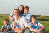 Big Happy Family — Stock Photo