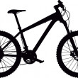 Hardtail mountain bike - Image vectorielle