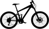 Full-suspension mountain bike — Stock Vector