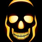 Jack-o-lantern skull — Stock Vector
