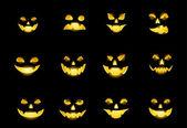Jack-o-lantern faces — Stock Vector