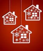 Christmas houses — Stock Vector
