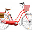 Ladies bicycle - Stockvektor
