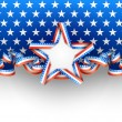 Patriotic background with star — Stock Vector #25865547