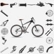 Stock Vector: Bicycle with parts