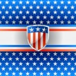 Patriotic background with shield — Stock Vector #25865535