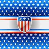 Patriotic background with shield — Stockvector