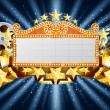 Stock Vector: Golden marquee banner
