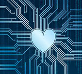 Cyberheart — Stock Vector