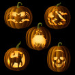Постер, плакат: Set of Jack OLanterns