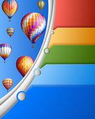 бизнес шаблон с воздушными шарами — Cтоковый вектор