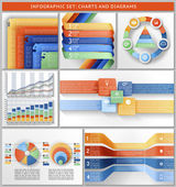 Set of charts, templates, and infographic. — Stock Vector