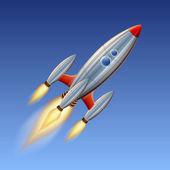 Space rocket — Vetorial Stock