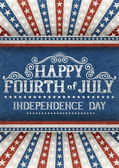 Fourth of july greeting card — Vecteur