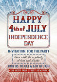 Fourth of july invitation — Stock Vector