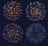 Set of fireworks — Stock Vector