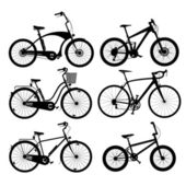 Bicycle silhouettes — Stock Vector