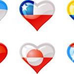 Flags heart — Stock Vector #5280002