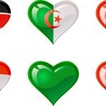 Flags heart — Stock Vector #5280008