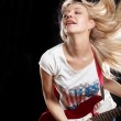 Woman Playing the Guitar — Stock Photo #11487996