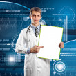 Doctor Man With Write Board — Stockfoto