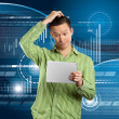 Business Man With Touch Pad — Stock Photo #12832123