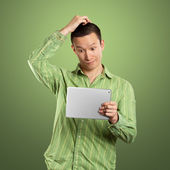 Business Man With Touch Pad — Stock Photo