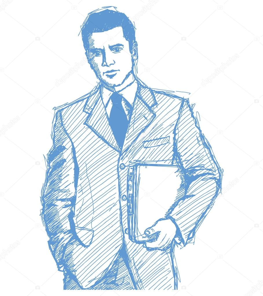 Displaying 19> Images For - Businessman Sketch...
