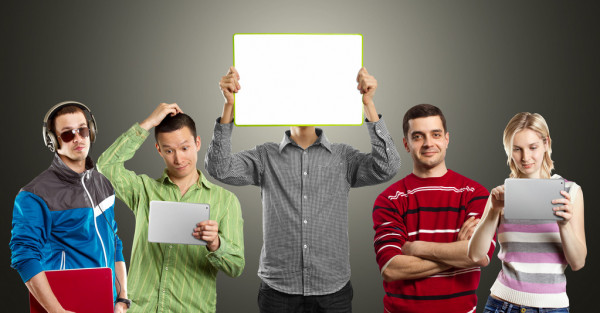 Male With Write Board In His Hands — Stock Photo #13291075