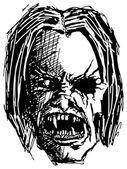 злой монстр череп — Cтоковый вектор