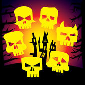 Arga monster skalle — Stockvektor