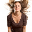 Woman With Wind in her Hair — Stock Photo #13510127