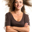 Woman With Wind in her Hair — Stock Photo #13510165